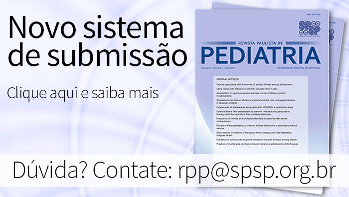 Novo sistema de Submissão para Revista Paulista de Pediatria