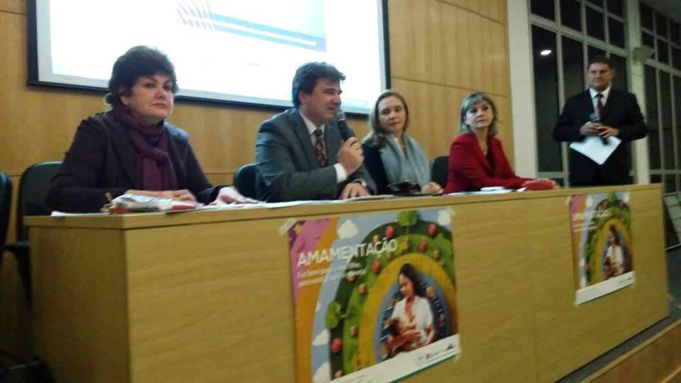 Dr. Claudio Barsanti, Presidente da SPSP, discursa na abertura do evento