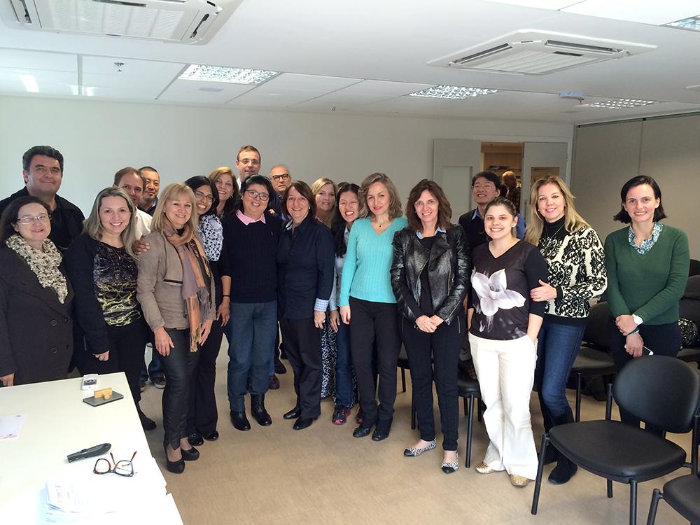Todo o grupo presente no curso de recertificação dos instrutores do Programa de Reanimação da SPSP/SBP