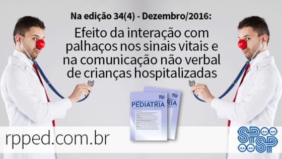 Efeito da interação com palhaços nos sinais vitais e na comunicação não verbal de crianças hospitalizadas