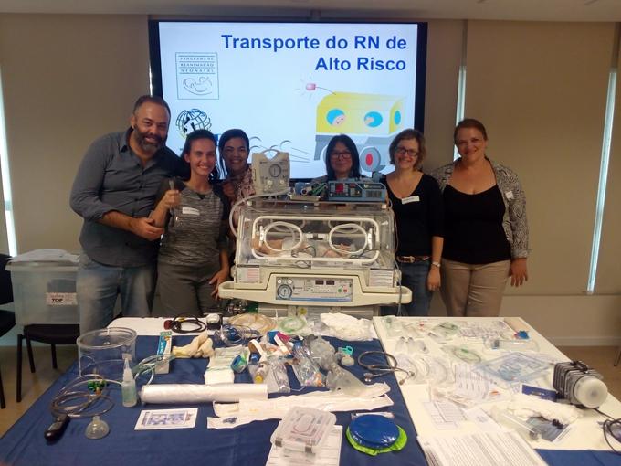Curso de transporte do recém-nascido de alto risco realizado em 21 de novembro de 2016
