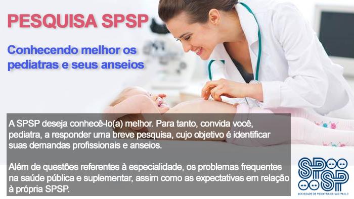 SPSP promove pesquisa sobre as demandas dos pediatras