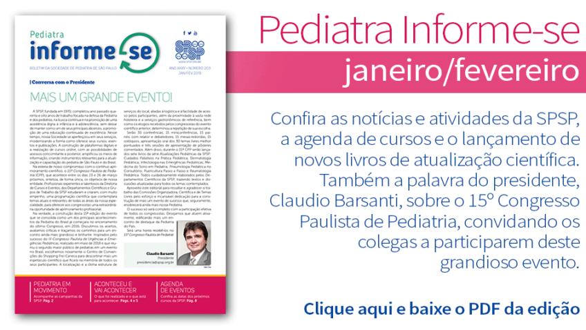 Boletim Pediatra Informe-se: Edição janeiro/fevereiro nº 203
