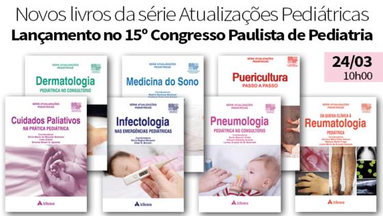 Novos Livros da SPSP no 15º Congresso Pauista de Pediatria