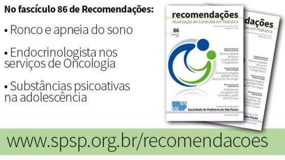 Fascículo 86 de Recomendações tem artigos de Medicina do Sono, Endocrinologia e Adolescência