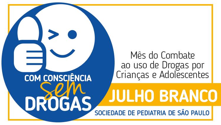 Campanha Julho Branco: com consciência, sem drogas – mês do combate ao uso de drogas por crianças e adolescentes