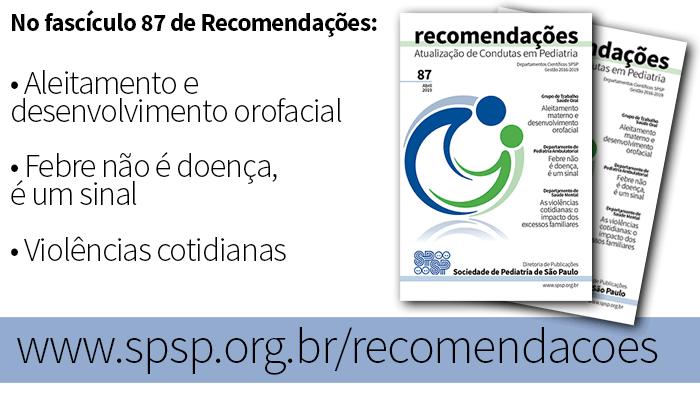 Fascículo 87 de Recomendações tem artigos de Saúde Oral, Pediatria Ambulatorial e Saúde Mental