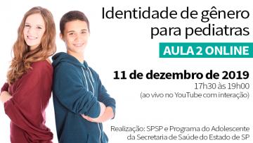 Aula 2 Online – Identidade de Gênero para Pediatras