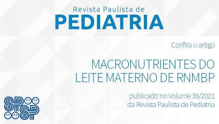 Macronutrientes do leite materno de RNMBP