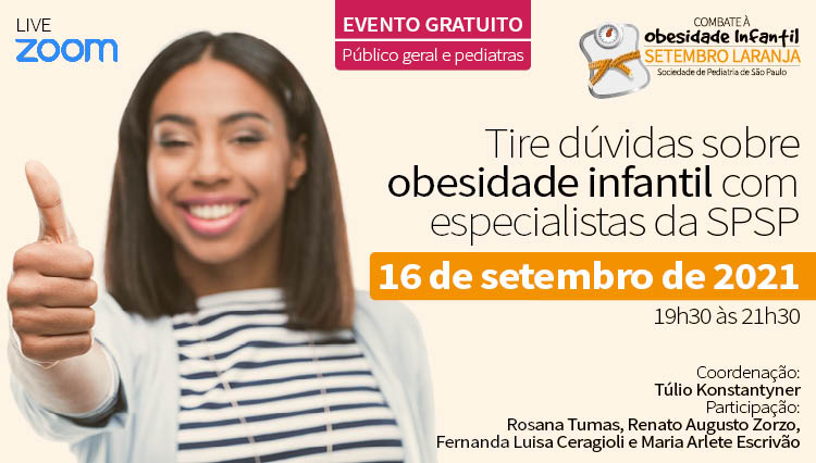 LIVE – Tire dúvidas sobre Obesidade Infantil com Especialistas da SPSP – Setembro Laranja (Zoom)