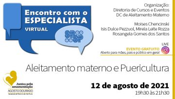 Encontro com o Especialista – Aleitamento Materno e Puericultura – Agosto Dourado (Instagram)