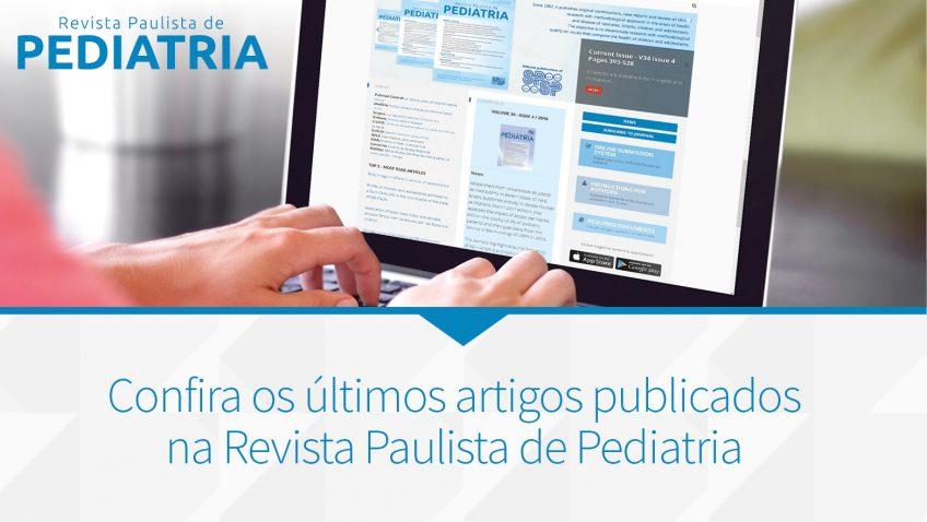 Revista Paulista de Pediatria – vol. 39 – artigos publicados