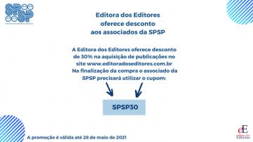 Editora dos Editores oferece desconto aos associados da SPSP