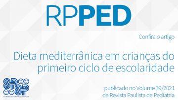 RPPed: Dieta mediterrânica em crianças do 1º ciclo de escolaridade