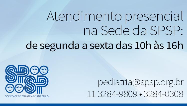 Atendimento Presencial na Sede da SPSP: de segunda a sexta das 10h às 16h