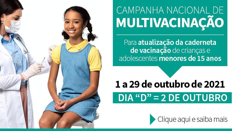 PNI realiza campanha nacional de multivacinação em outubro