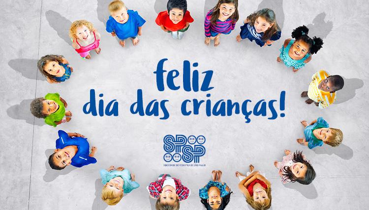 A Sociedade de Pediatria deseja a todos um Feliz Dia das Crianças!
